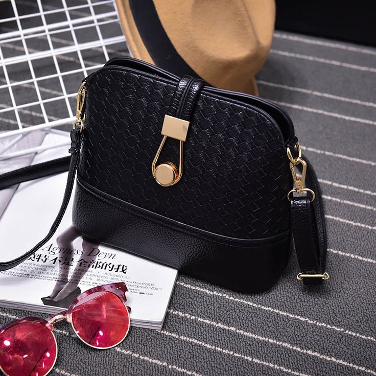 Knitting Crossbody Bags for Women Fashion Shell Messenger Bags Zipper Leather Handbags over Shoulder Lady's Shell Bags sac canta