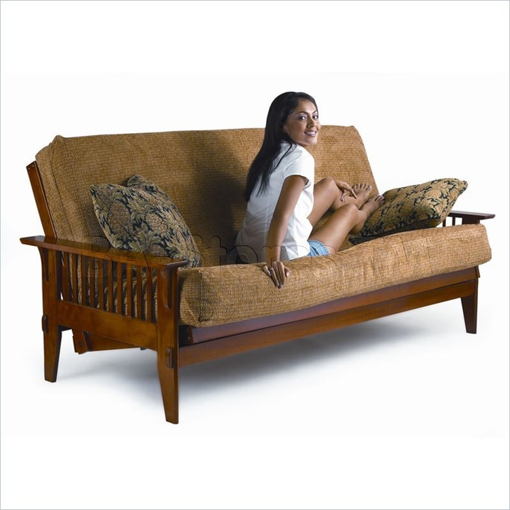 Sleeper Sofas Lifestyle Solutions Fashion Hardwood San Mateo Futon Frame in Medium Oak u Queen