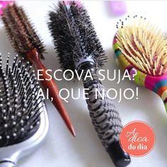 como limpar escova de cabelo