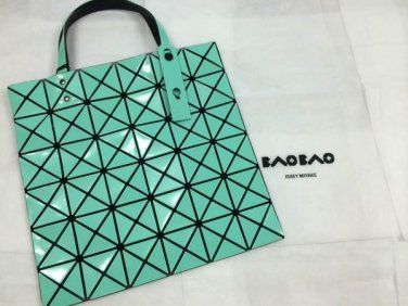 BAO BAO BAOBAO Issey Miyake Lucent Mint Green Tote Shoulder Bag 100% Authentic with tag
