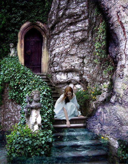 gorgeousFantasy, Secret Gardens, Back Doors, Dreams, Beautiful, Castles, Places, Princesses, Fairies Tales