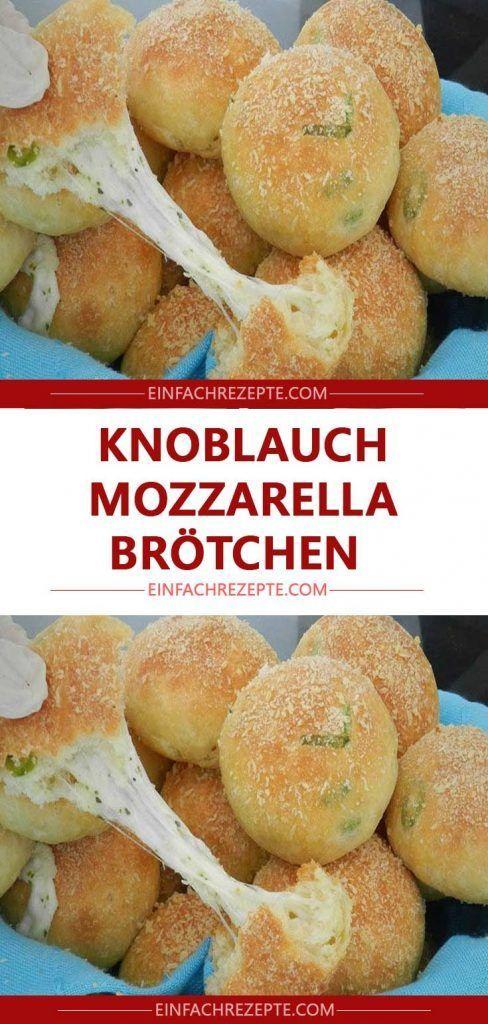 Knoblauch Mozzarella Brötchen 😍 😍 😍