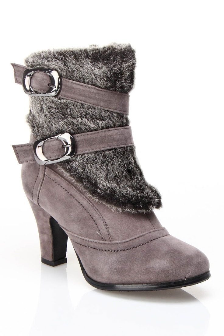 Anna Jacinthe Heel Boots In Gray