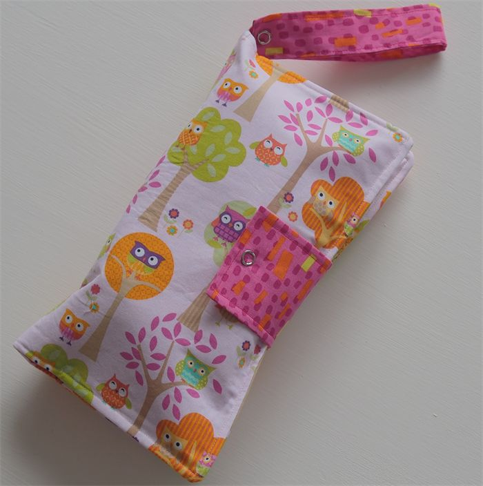 Pink Owl Nappy Wallet
