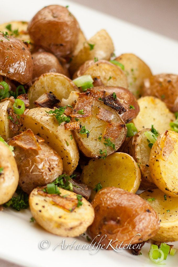 Parmesan Oven Roasted Potatoes | Art and the Kitchen -These Parmesan Oven Roasted Potatoes are quick, simple and tasty.