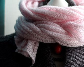Long warm knit Scarf,  Pale pink Scarf, Winter Spring Chunky Scarf -       Edit Listing   - Etsy