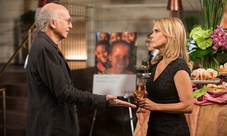 'There's always an open-door policy for Larry' … David with Cheryl Hines in Curb Your Enthusiasm.