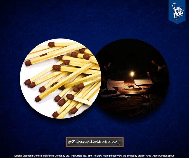 Keeping matchsticks & candle handy, in case of an occasional power cut was being Zimmedar. #ZimmedariKeKissey
