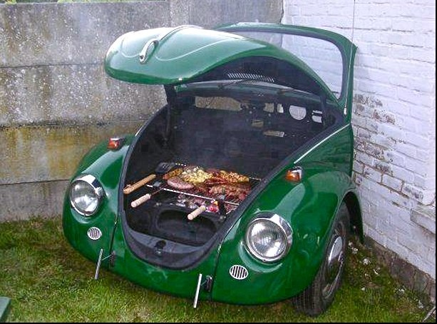 BBQ for the garden- Love this, how tough could it be to make???? David? (This is not a DIY, just inspiration)