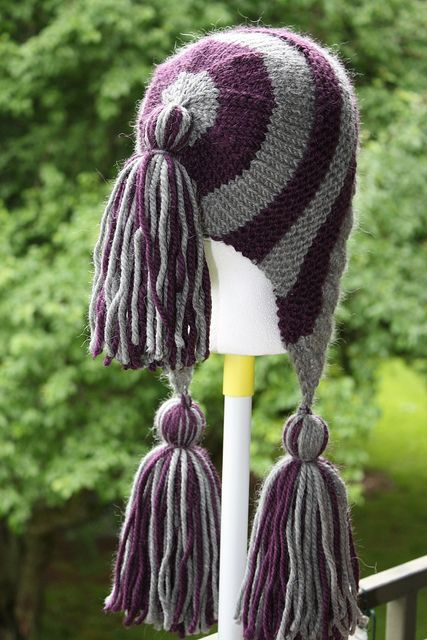 Completely and mercilessly copied kniterror's Stripey Capucine and i love it! The yarn was awesome, and this is a hat pattern i LOVE anyway, and the stripes look great!  Thank you lady at the...