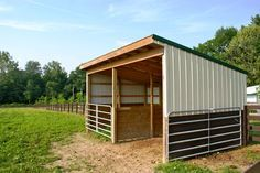 run-in-shed. I like the gates there in case the horse needs put up for any reason