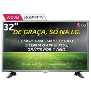 "Smart TV LED 32"" HD LG 32LH570B com Painel IPS, Wi-Fi, Miracast, WiDi, Entradas HDMI e Entrada USB"