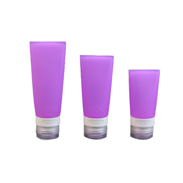 Travel Silicone Packing Bottle Lotion Shampoo Container Purple 38 ml