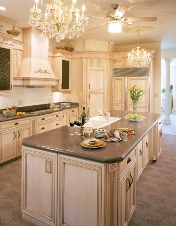wonderful cream colored kitchen cabinets with white appliances 18