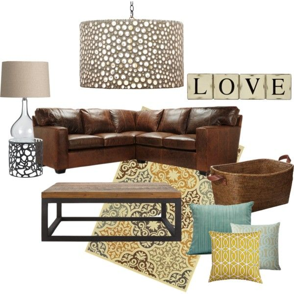 Turquoise Yellow Living Room By Slartley On Polyvore PillowsBrown Couch