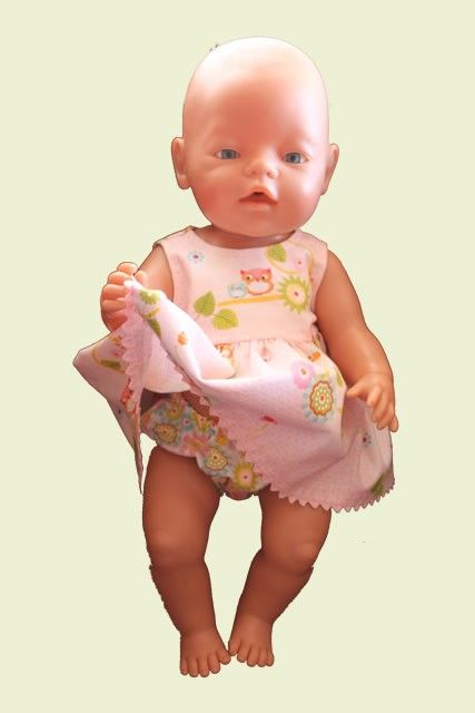 Pink Owl Dress with Matching Knickers - to Fit Baby Born or Cabbage Patch Doll (www.notinshops.com.au) $22.00