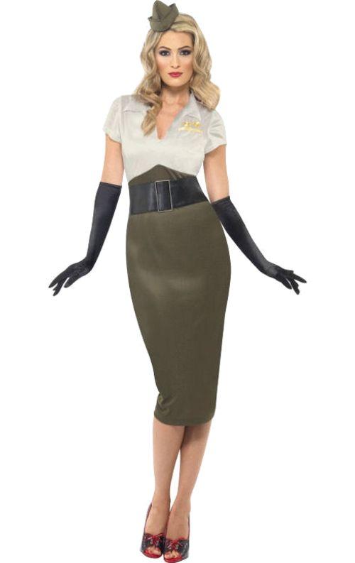 1940s military costume.