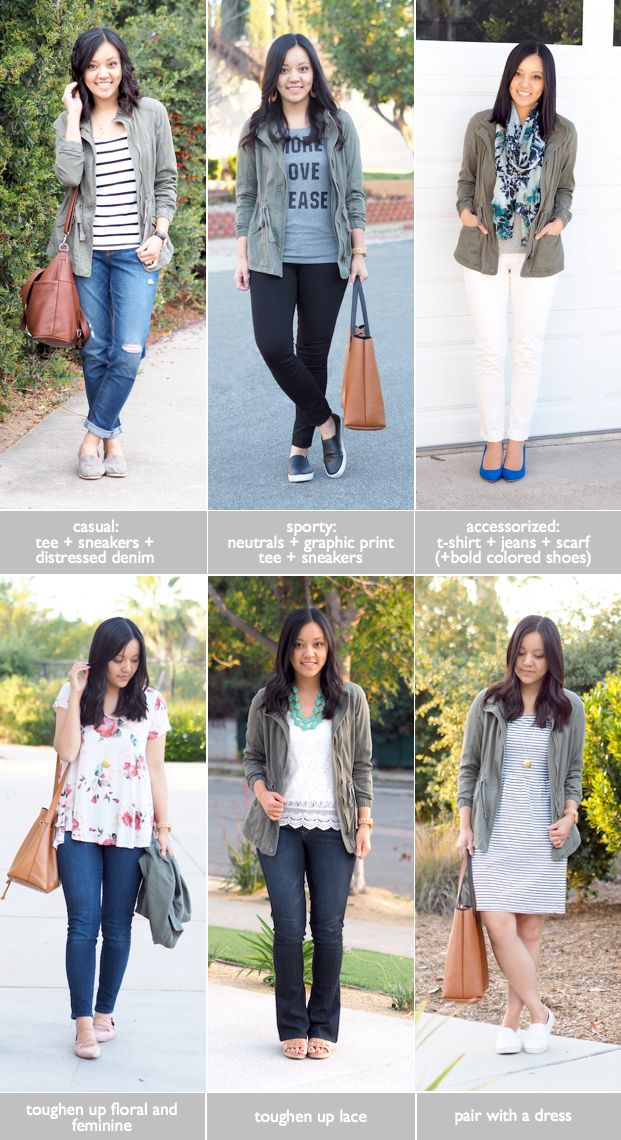 Utility Jacket Outfit Ideas for Spring