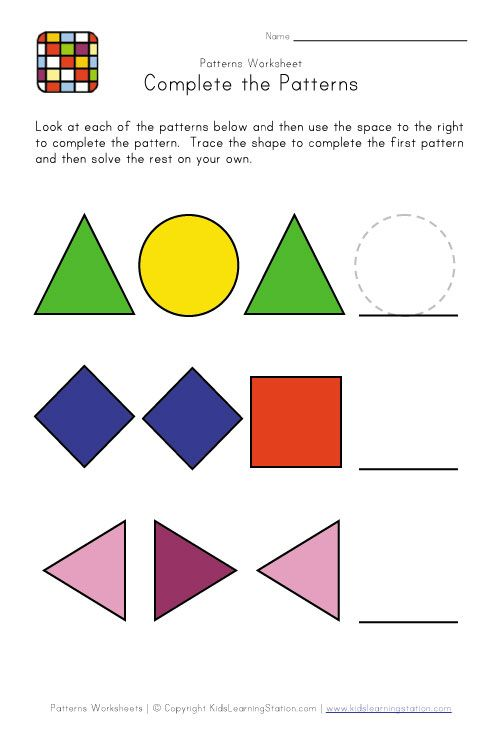 Best Pattern Worksheets Images On   Math Patterns