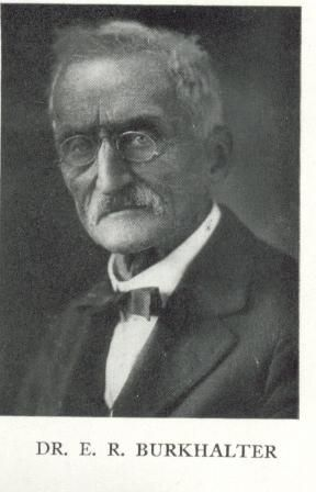 Dr. E. R. Burkhalter, Board of Trustees Coe College 1923