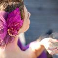 How to Make a Sparkly Floral Fascinator
