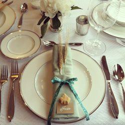 pretty napkin arrangement