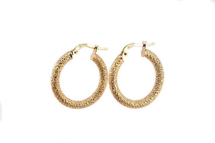 Σκουλαρίκια κρίκοι χρυσό Κ14 -7200