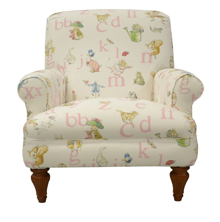 Happy Birthday Prince George, we hope you enjoy your #beatrixpotter themed party (we love Peter Rabbit and Jemima Puddle-Duck). Here's our Grosvenor chair in Jane Churchill Alphabet Beatrix fabric, also available in blue. www.multiyork.co.uk/armchairs