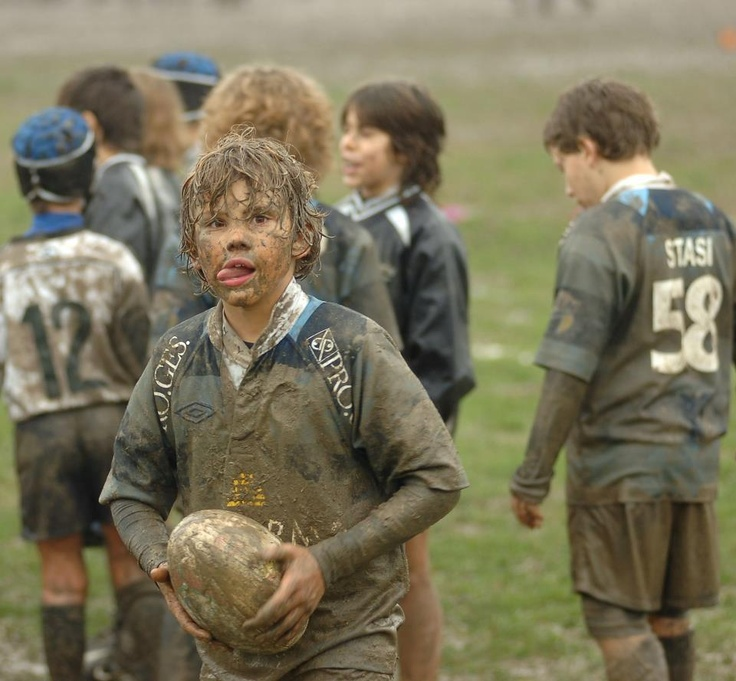 babies playing rugby....not usually into kids but this is the exception.
