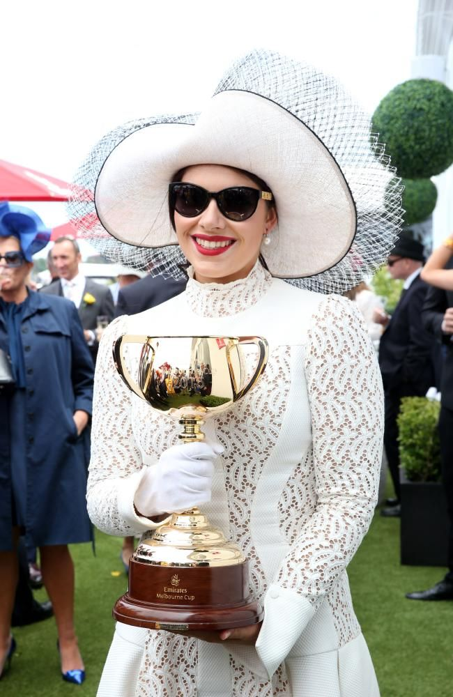 Melbourne Cup the race that stops our nation!!!!Francesca Barham Packer pictured at The Birdcage at Flemington Racecourse. Picture: Richard Dobson