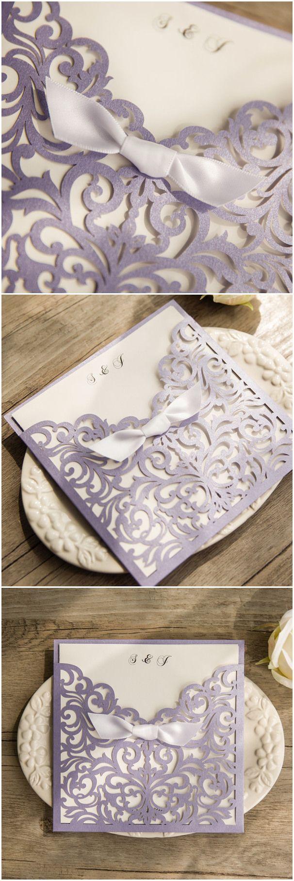 elegant wedding invitations, lavender wedding invitation cards-inspired by one of the most popular wedding colors @elegantwinvites