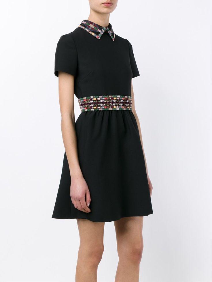 Valentino платье с вышивкой бисером