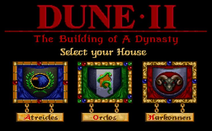Name: Dune 2. Type: Real Time Strategy (RTS). Genre: Futuristic (Planet Arrakis). Year of Release: 1992. Platform: PC/DOS/Windows with DOS-Box.