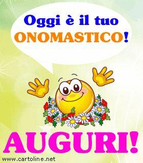 Emoticon Per Il Buon Onomastico Cartoline Ecards Pinterest