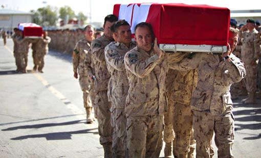 bodies of Canadian soldiers killed in Afganistan head home