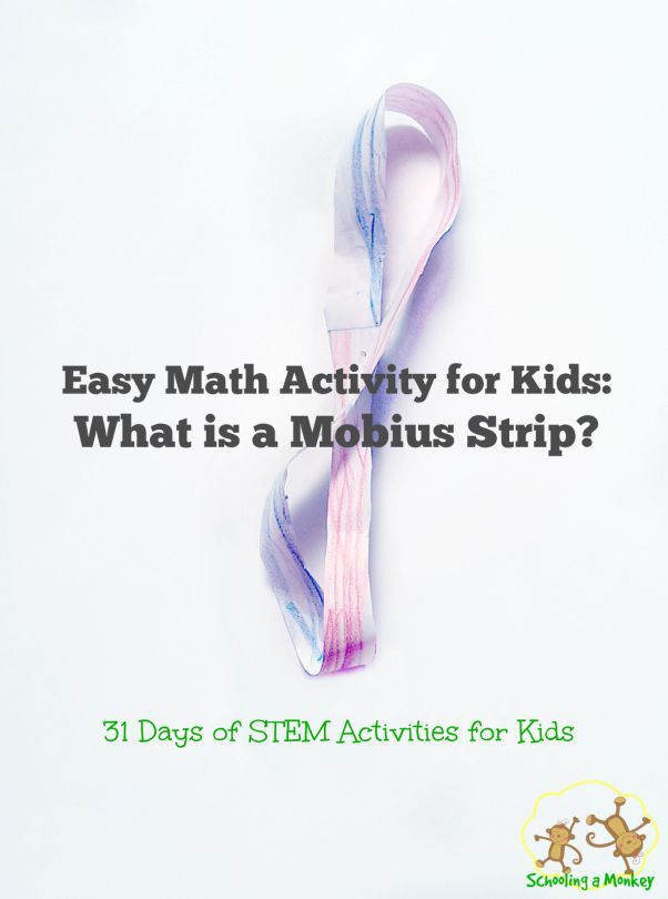 "Math can get complicated fast. In some cases, it can appear like magic. The mobius strip is just such a ""magic"" math activity that kids will love."