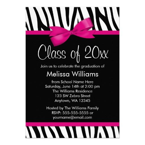 Zebra Hot Pink Printed Bow Graduation Party Invitation you will get best price offer lowest prices or diccount couponeThis Deals          Zebra Hot Pink Printed Bow Graduation Party Invitation Review from Associated Store with this Deal...