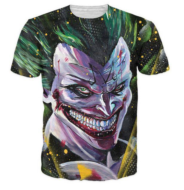 Majin Joker T-Shirt Batman Dragonball Z croisé le Joker super saiyan Mode Vêtements D'été Style Femmes Hommes t-shirts t shirt
