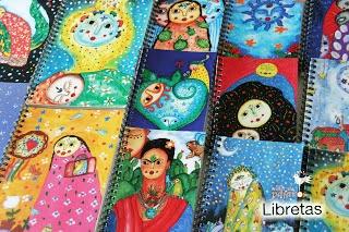 Libretas artesanas obra del artista Estuardo Álvarez y su Taller de Pájaros. DIN-A5: 5 euros. DIN-A6: 3 euros. http://www.veniracuento.com/