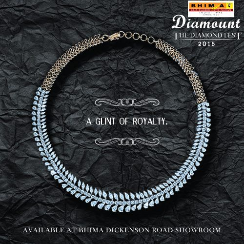 A loop of dazzling diamonds to make you look like a princess! This diamond fest, make it your own. Visit Bhima Dickenson road showroom and discover a whole new world of diamond extravaganza. #Bhima #Diamonds