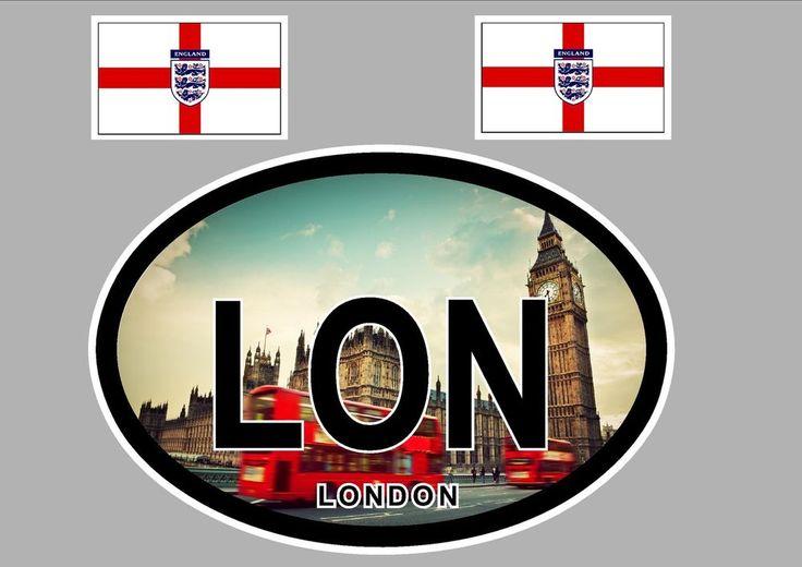 LONDON ENGLAND FLAG WINDOW / BUMPER STICKER FOR CAR BIKE CARAVAN  #SIGNSSTICKERSBANNERS #DecalsBadgesDetailing