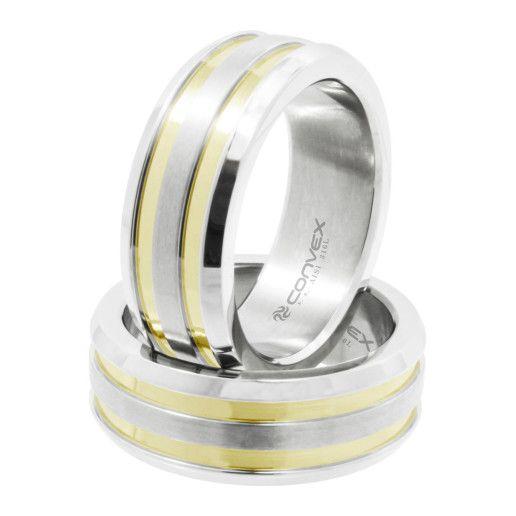 Aliança de aço Gold Eros Convex Brasil (AN-CNX)