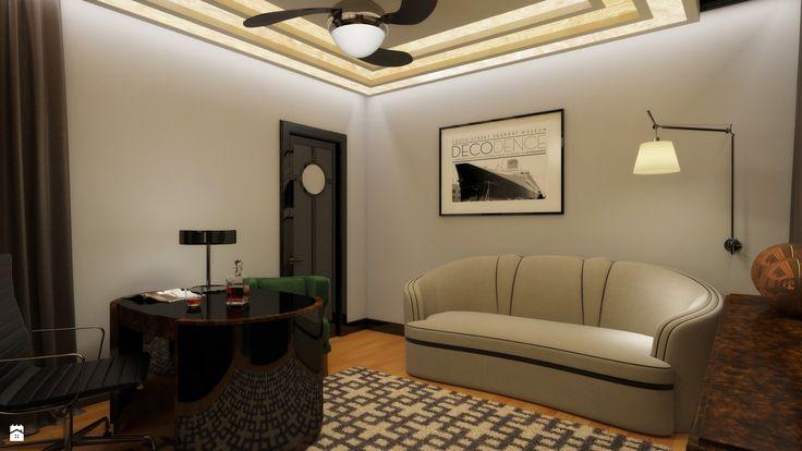 Gabinet styl Art deco - zdjęcie od m o d e s i magdalena wasiak - Gabinet - Styl Art deco - m o d e s i    magdalena wasiak