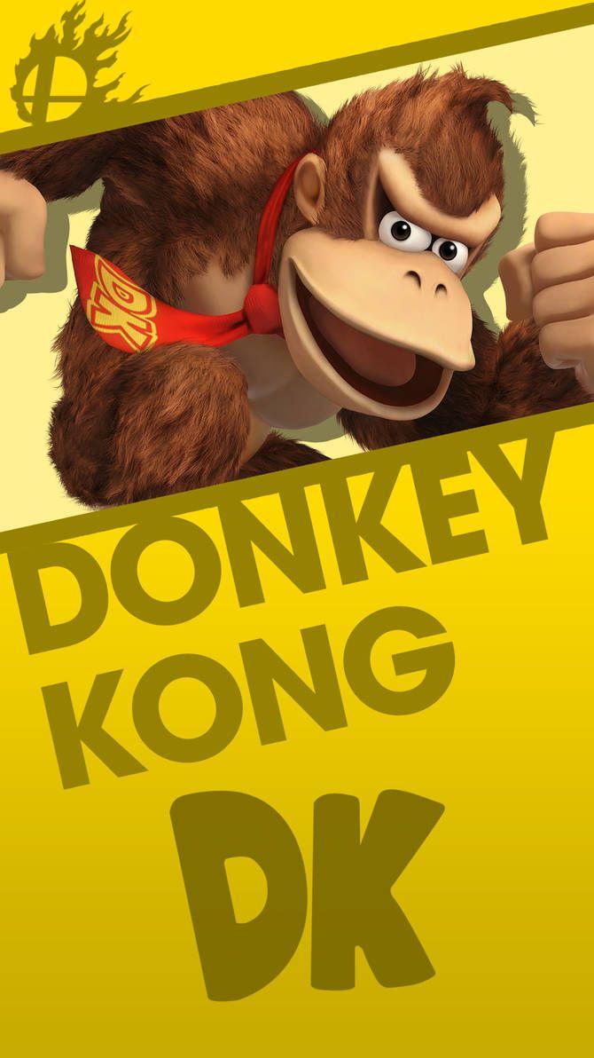 Donkey Kong Smash Bros Phone Wallpaper By Mrthatkidalex24 Donkey Kong Smash Bros Nintendo Mario Bros