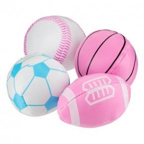 Pink Sports Ball Party Bag Fillers 4 Pack