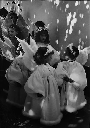 Portugal, 1958, gelatin silver print. By Edouard Boubat | little angels | wings | 1950's | black & white photography