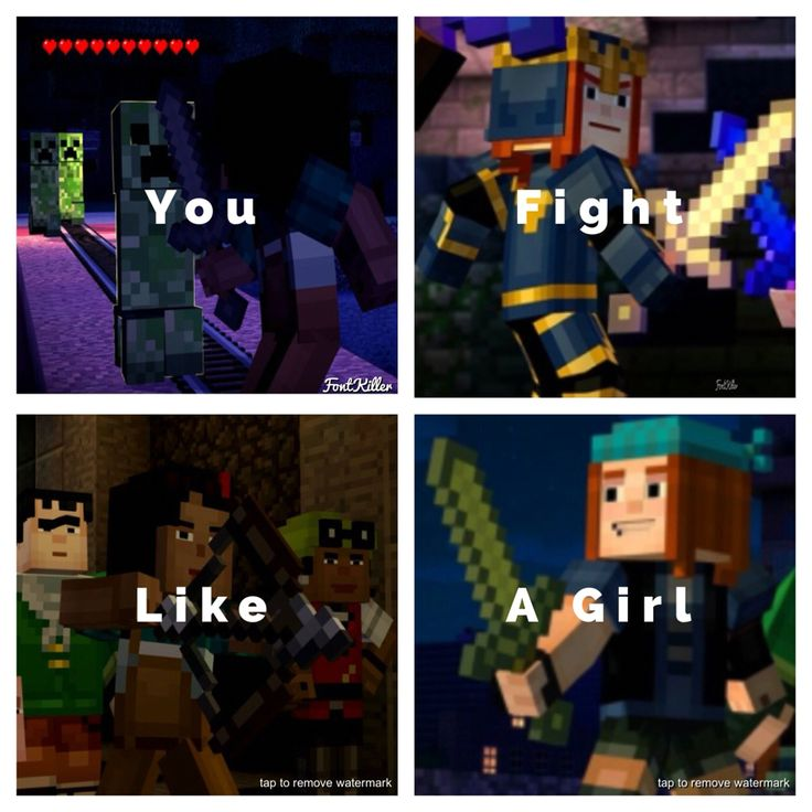 Naked girls in minecraft in college Girl Jesse And Petra You Fight Like A Girl Minecraft Funny Minecraft Memes Girls Be Like