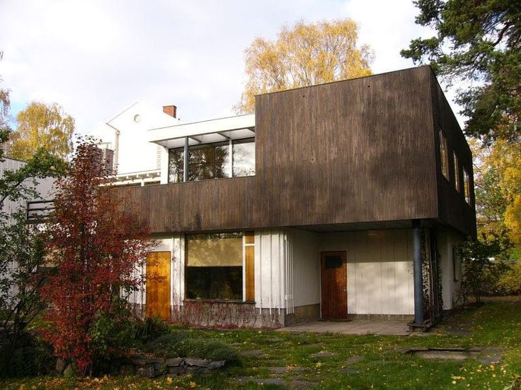 Alvar Aalto, 1936 - The Alvar and Aino Aalto House, Riihitie, Munkkiniemi, Helsinki, Finland.