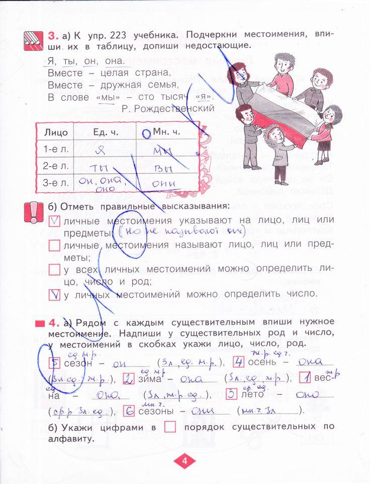 Гдз по русскому 3 класс нечаева рабочая тетрадь 2