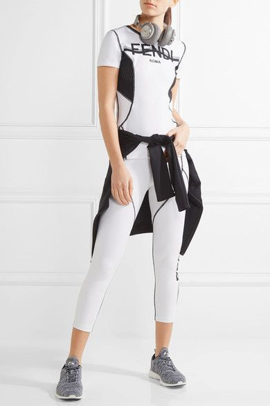 Fendi - Perforated Coated Stretch Top - White - IT